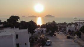 日落在土耳其市 免版税库存图片