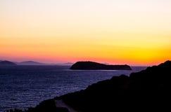 日落在土耳其 免版税库存图片