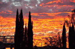 日落在圣哈辛托 免版税库存图片