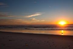 日落在圣地亚哥加州 库存图片