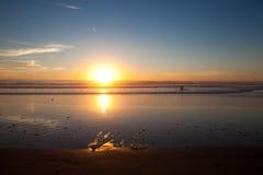 日落在圣地亚哥加州 图库摄影