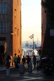 日落在圣特罗佩 免版税图库摄影