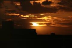 日落在圣胡安 免版税库存照片