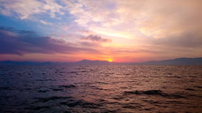 日落在地中海 图库摄影