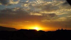 日落在城市 影视素材