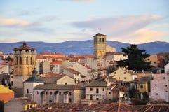 日落在塞戈维亚,西班牙 免版税图库摄影