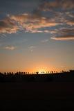 日落在墨尔本 库存照片