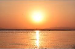日落在夏天 免版税库存照片