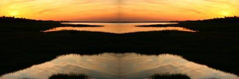 日落在夏天 库存照片