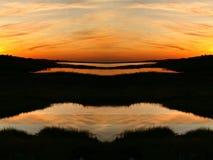 日落在夏天 库存图片