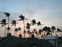 日落在多米尼加共和国 库存图片