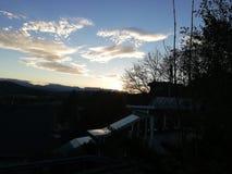 日落在奥地利 库存照片