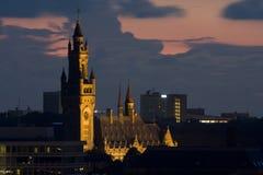 日落在小室Haag 免版税库存图片