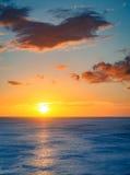 日落在尼加拉瓜 免版税图库摄影
