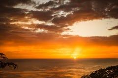 日落在尼加拉瓜 库存图片
