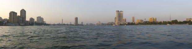 日落在尼罗的开罗 库存图片