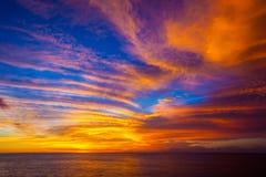 日落在巴厘岛是您的梦想 免版税库存照片