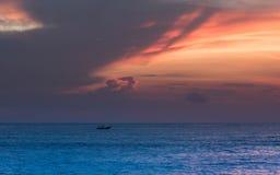 日落在巴厘岛 库存图片