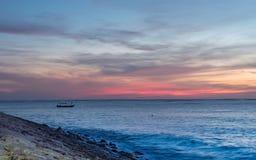 日落在巴厘岛 免版税库存照片