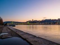 日落在布达佩斯 免版税库存照片