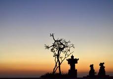 日落在库塔,巴厘岛 免版税库存照片