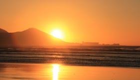 日落在开普敦 库存图片