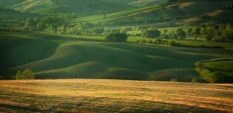 日落在托斯卡纳意大利 库存图片