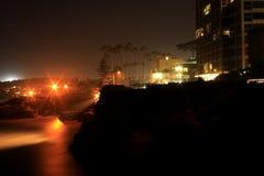 日落在拉霍亚,加州 免版税库存图片
