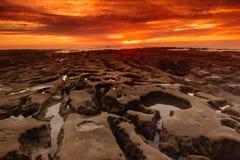 日落在拉霍亚 库存图片