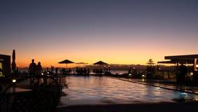 日落在斐济 免版税库存照片
