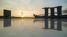 日落在新加坡 影视素材