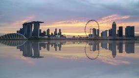 日落在新加坡 股票视频