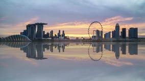 日落在新加坡 股票录像