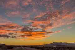日落在新墨西哥 免版税库存图片