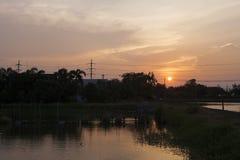 日落在晚上是美好 免版税库存图片