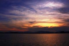日落在普吉岛 免版税库存图片