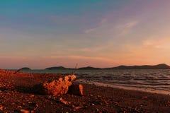日落在普吉岛 库存图片