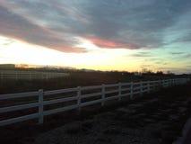 日落在普莱森特维尤犹他 库存照片
