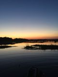 日落在查尔斯顿,南卡罗来纳 库存照片