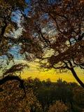 日落在格林威治 库存图片