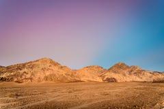 日落在死亡谷国家公园,加利福尼亚 免版税图库摄影