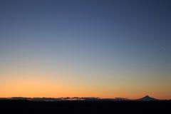 日落在沃姆斯普林斯 库存图片