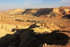 日落在沙漠 免版税库存照片