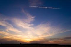日落在沙漠 图库摄影