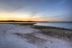 日落在沼泽地 免版税库存图片