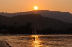 日落在泰国 免版税库存图片