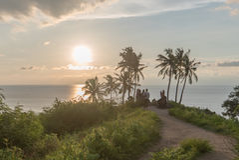 日落在海边 免版税库存图片
