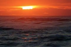 日落在海 库存照片