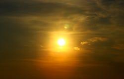 日落在海滨的夏天风景 库存图片