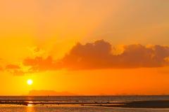 日落在海 图库摄影